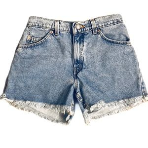 Vintage Levi's 910 Orange Tab Cutoff Jean Shorts 5